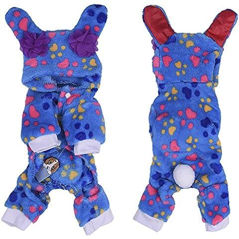 Molie Felpa adorable perro pijamas sudaderas con capucha para mascotas capas suaves pijamas traje