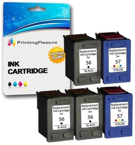 Printing Pleasure KIT 5x Cartucce d'inchiostro compatibili per HP Photosmart
