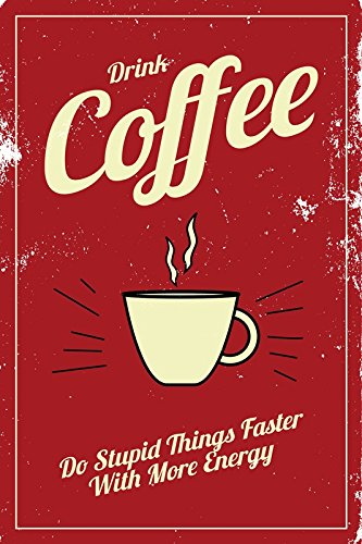 PosterGully Posters - Coffee Energy Vintage | Wall Art Poster | Posters for Cafe Decor | Posters for Room Motivational | Posters for Boys Room | Posters for Wall | Posters for Girls Room  available at amazon for Rs.199