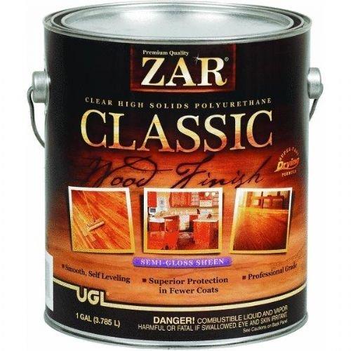 Solid Polyurethan (ZAR CLASSIC High Solids Polyurethane SEMI-GLOSS, Gallon by United Gilsonite Lab)