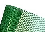 HaGa-Welt.de 1m² MASCHENGEWEBE in 1m Breite x 1m Kunststoffzaun Schutzgitter für Kleintiere Windschutz- Gartenzaun Masche 6mm x 9mm grün (METERWARE) OP08/100