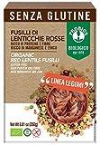 Probios Fusilli 100% Lenticchie Rosse Bio senza Glutine - Confezione da 12 x 250 g