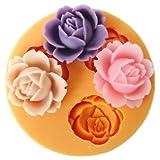 YW Silikonform für Fondant-Blumen (1,8cm), Mini-Form, Gebäckdekoration, Tortenverzierung