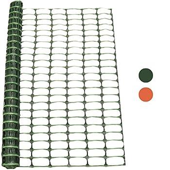 Woodside 1m X 15m Green Plastic Barrier Safety Pet Event Mesh Fence Netting Net 0