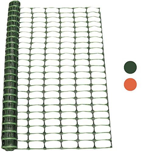 Woodside - Kunststoff-Hühnerzaun - Maschengewebe - Grün - 1 x 15 m (H x L)