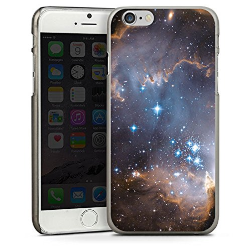 Apple iPhone 5s Housse Étui Protection Coque Étoiles Galaxie Galaxie CasDur anthracite clair