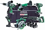 Hitachi KTL618C 6Stück schnurlose Tool Kit (18V, 3x Li-Ion Batterien & Tasche)