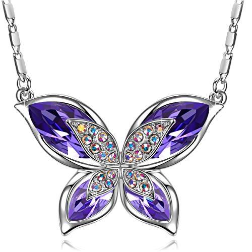 ring Lila' schmuck Damen, mit Kristallen von Swarovski, Halskette Damen, Geschenke für Frauen ()