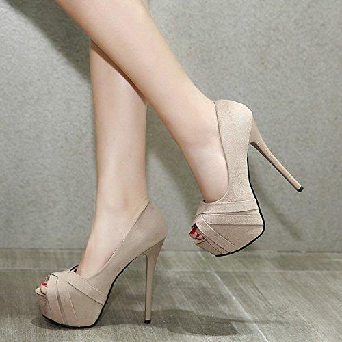 GTVERNH-albicocca 15cm ultra - tacchi alti con un impermeabile scarpe sexy nude le scarpe.,39 Thirty-five