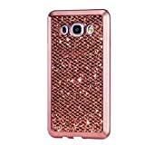 KSHOP Etui pour Samsung Galaxy J1 Ace J110 Bling TPU Gel Coque Ultra Mince Case Cover avec Cadre de Galvanoplastie Telephone Portable Soft Housse Cas Prime Flex Silicone Shell Coquille Couvrir Coverture Pare-Chocs Anti-Choc Skin Protection Bumper - Or Rose