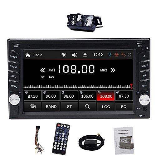 Alling Version mit Kamera + 8G SD Karte. 15,7cm Doppel DIN Auto DVD CD Video Player unterstützt DVD/CD/MP3/USB/SD/AM/FM/RDS Radio/Hände frei/Bluetooth/Stereo/Audio- und GPS GPS Navigation Autoradio Head Unit Auto PC 800MHz CPU.