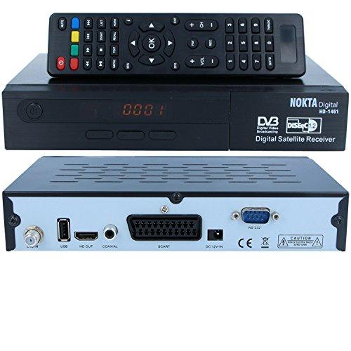 HD Sat Receiver Nokta 1461 (USB, HDMI, Scart, Digital Audio Out, FULL HDTV, DVB-S2) ( kein HDMI Kabel )-