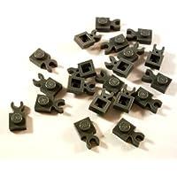 12 Stk Bausteine PLATTE 1x1 mit Clip vertikal schwarz