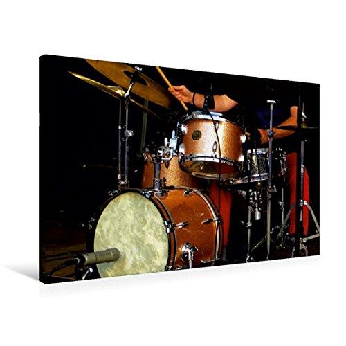 Premium Textil-Leinwand 90 x 60 cm Quer-Format Schlagzeug | Wandbild, HD-Bild auf Keilrahmen, Fertigbild auf hochwertigem Vlies, Leinwanddruck von ... Schlagzeuger in Aktion (CALVENDO Kunst)
