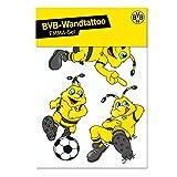 Borussia Dortmund Emma-Wandtattoo Set, Schwarzgelb, Emma-Motive, One Size