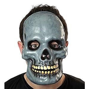 HEITMANN DECO 7158 Casa de Halloween - máscara de calavera para adultos