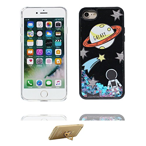 iPhone 6 Plus Custodia, Silicone trasparente duro Flowing Bling Cover Shell Semplice Progettato per iPhone 6s Plus Copertura (5.5 pollici), iPhone 6S Plus Case - e ring supporto [ Fenicottero ] COLOR 8