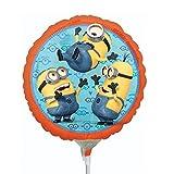 1 x Folienballon Minions 23 cm Durchmesser Ballon, Luftballon