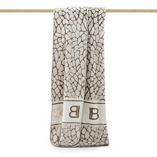 Coperta Plaid in pile Laura Biagiotti giraffato 130x160 cm P774 MARRONE
