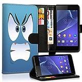wicostar Wallet Book Style Flip Handy Tasche Case Schutz Hülle Schale Motiv Etui für Huawei Y360 - Design Flip MVD201