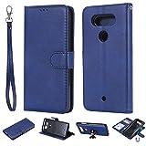Yadasaro Coque LG Q8 Etui Portefeuille Support PU Cuir [Antichoc TPU] [Protection Complète] Étui de Protection Flip Cover Housse Coque pour LG Q8 Blue