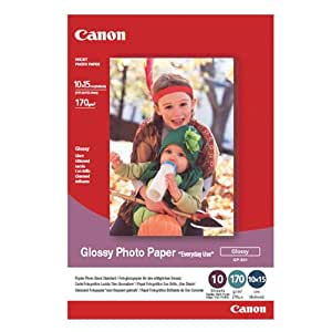 Canon 0775B005 Glossy Photo Paper'Everyday Use' GP501 - Papier d'impression 210 g/m2 10X15cm (4X6 in) - 10 feuilles