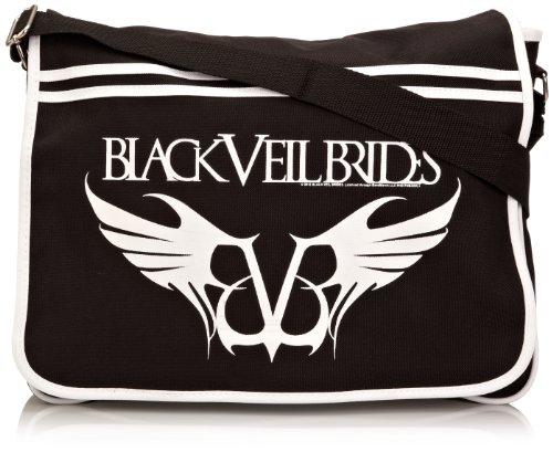 BagBase Black Veil Brides - Borsa a tracolla uomo, Nero (Black), Taglia unica