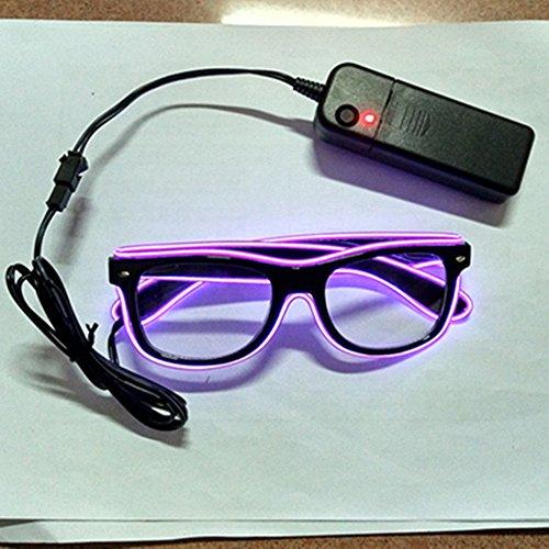 Kostüm Weihnachten Bis Licht - olayer Draht LED-Licht bis Shutterbrille für Rave Kostüm Party Weihnachten violett