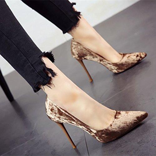 FLYRCX Frühling und Herbst elegante Einzelzimmer Schuhe einfach Schuhe simple mode Pumps High Heels und der Persönlichkeit Frauen party Schuhe Schuhe, 34, b