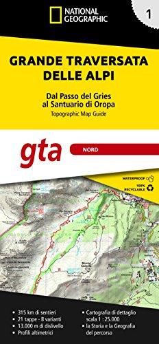 Grande traversata delle Alpi 1:25.000