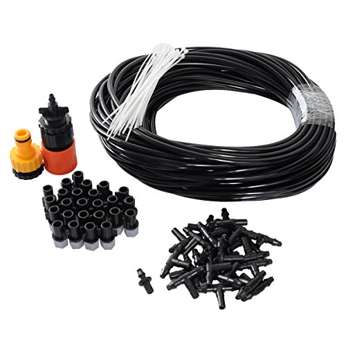 82ft-diy-mist-cooling-system-for-garden-greenhouse-watering-outdoor-patio-home-with-25pcs-plastic-mi