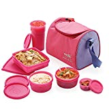 Cello Max Fresh Sling 5 Container Lunch Box With Bag