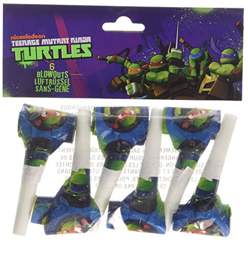 Partypfeifen, Teenage Mutant Ninja Turtles, 6 Stück (Halloween-kostüme-teenage Mutant Ninja Turtles)