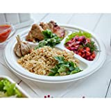 #4: Pack of 50 Disposable, 100% Biodegradable Microwave safe Sugercane Dinner plates 4 compartment