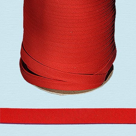 Bias Tape ~ 1/2 Wide Double-fold Bias Tape ~ RED ~ Poly Cotton (10 Yards / Pack) by NY Binding -