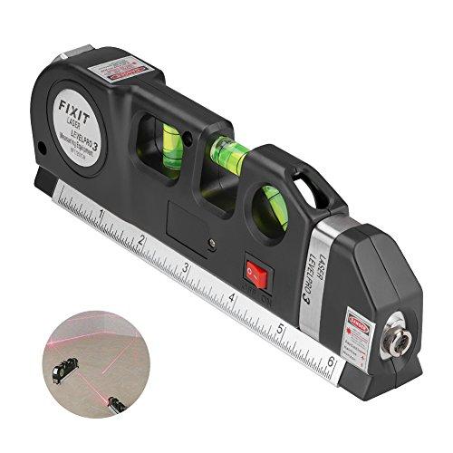 Tuipong multiuso livello del laser, 2,4m, nastro di misurazione, Bubble livelli, livella laser, per appendere quadri, l\' installazione di scaffali, posa di pavimenti, da appendere, carta da parati e più