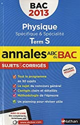 ANNALES BAC 2013 PHISYQUE S SP