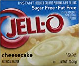 JELL-O CHEESECAKE SUGAR FREE INSTANT REDUCED CALORIE PUDDING AND PIE FILLING 1 x 28g AMERICAN IMPORT