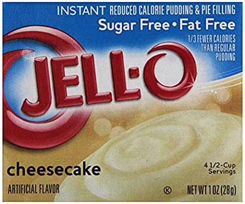 JELL-O CHEESECAKE SUGAR FREE INSTANT REDUCED CALORIE PUDDING AND PIE