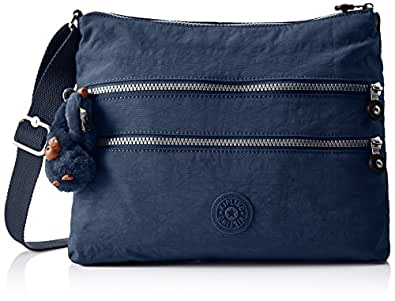 Kipling Women's Alvar Cross-Body Bag, Blue (42W Alaskan Blue), 33 X 26 cmX4.5CM (B x H x T)