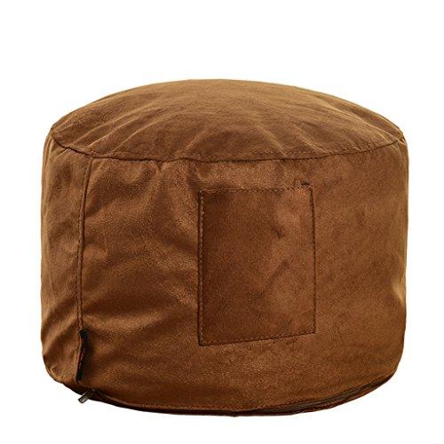 uusshop Sitzsack Bean Bag Fußhocker Fußstütze osmanischen Hocker Fuß Stuhl, abnehmbarer Bezug Beflockung + Liner, keine Füllung, (braun) (Bag Stuhl)