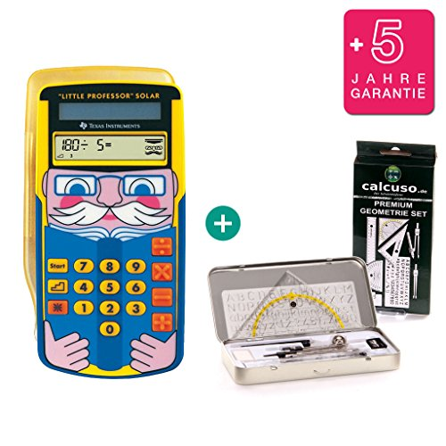 TI Little Professor + Geometrie-Set + Erweiterte Garantie