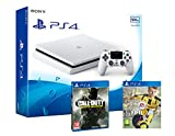 PS4 Slim 500Gb Blanca Playstation 4 Consola - Pack 2 Juegos - FIFA 17 + Call Of Duty: Infinite Warfare