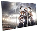 Canvas Geeks Leinwandbild, Motiv American Football Sports Treble, Rahmen, 150cm Wide x 100cm high