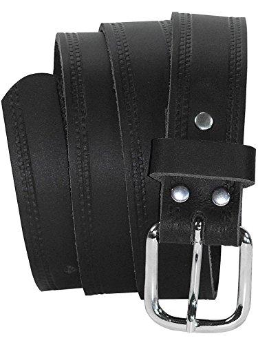 Harrys-Collection Ledergürtel 3 cm breit schwarz! Überlänge bis 180 cm, Schwarz, 135