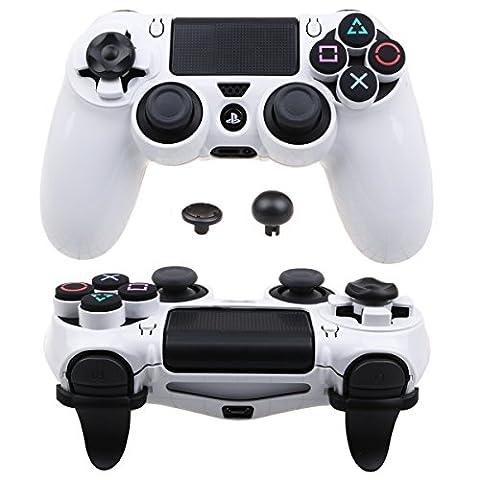 Pandaren® Ultra Armure Engrenage FPS Housse Custom pour le Manette PS4 (blanc)
