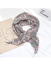 xinxin24 [Copia - Pañuelo pequeño para Mujer Pañuelo Toalla Cuadrada Imprimir Triángulo Bufanda Decoración Bufanda