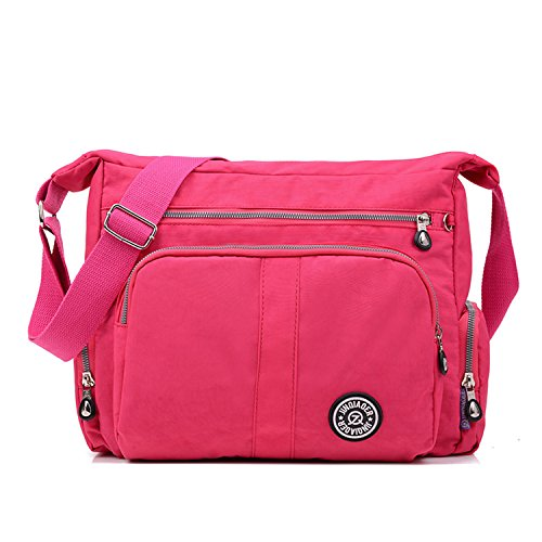 MeCooler Umhängetasche Wasserdicht Taschen Damen Kuriertasche Leichter Designer Messenger Bag Schultertasche Mode Sporttasche Strandtasche