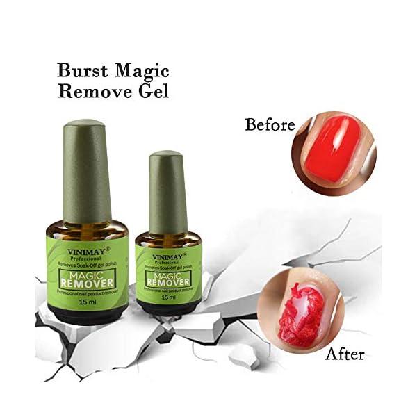 Belukies Magic Gel, Uñas De Gel Mágico,Removedor De Pegamento para Esmalte De Uñas, Tratamiento Fortalecedor Y…