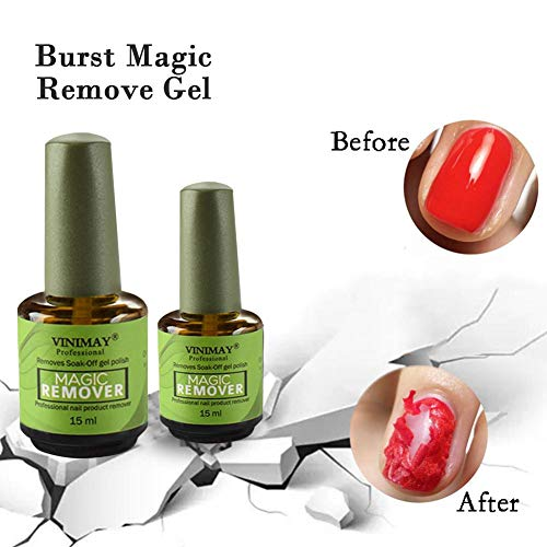 Nägel Nail Polish Remover Gehen (15ml Nail Polish Remover - Magic Soak-Off Gel Nail Polish Removing Glue Professional Removes for Nail Art Lacquer, Nail Bursting Removal Liquid Not Hurt Your Nails)